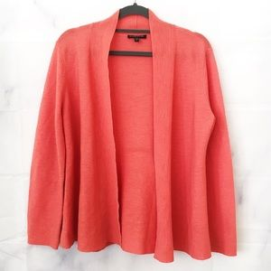 Eileen Fisher Coral Open Wool Cardigan